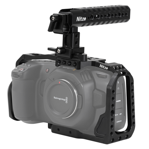 Open Box NITZE BMPCC 4K/6K Camera Cage with Top Handle