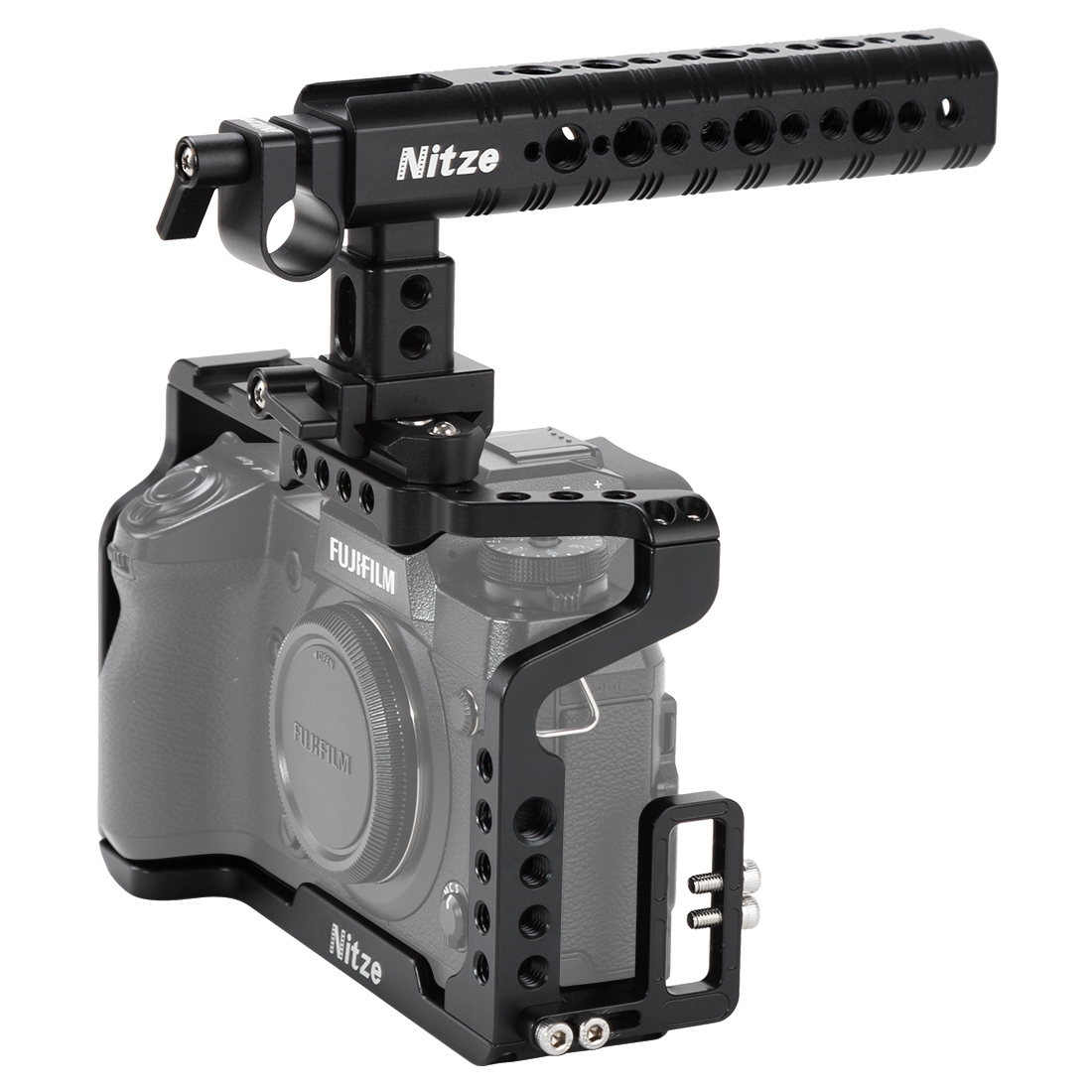 NITZE X-H1 Camera Cage for Fujifilm X-H1 with Top Handle