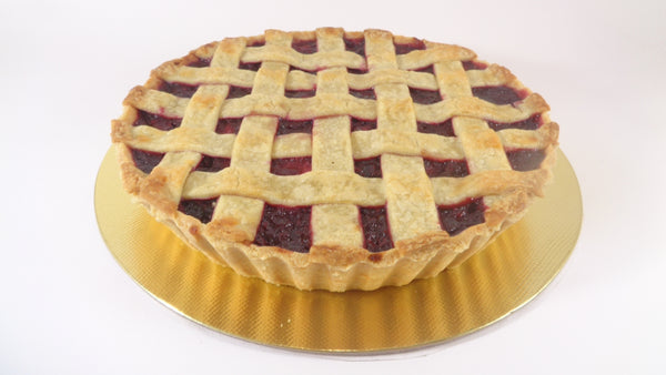 Apple and blackberry lattice tart