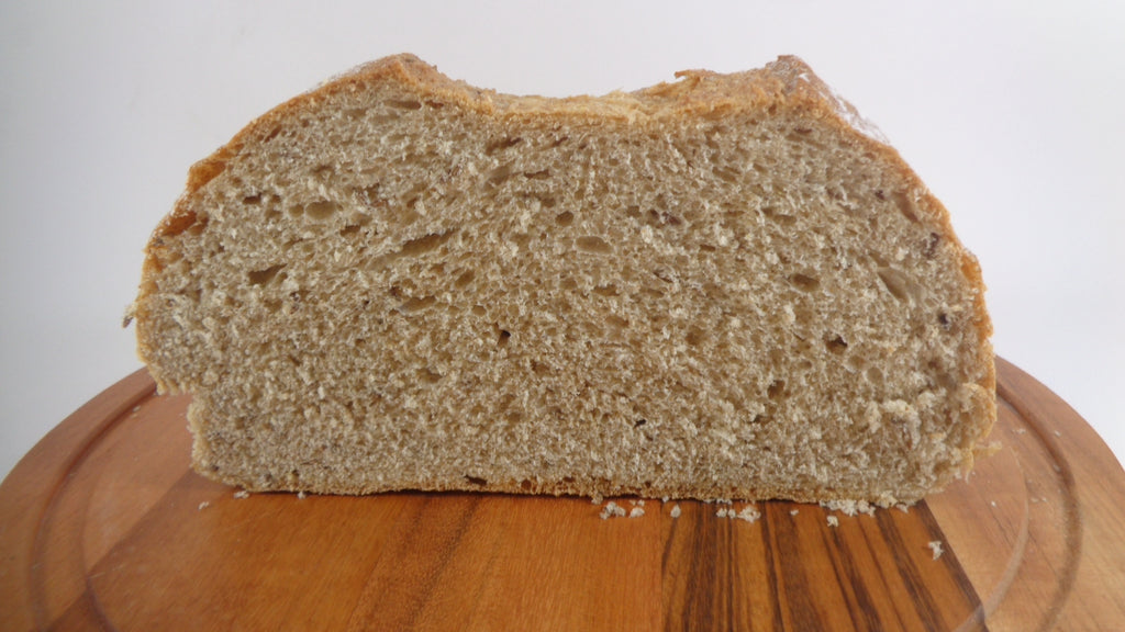 Rye and wheat loaf with caraway seeds