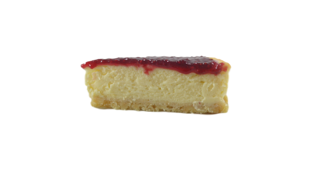 Classic cheesecake with shortbread base