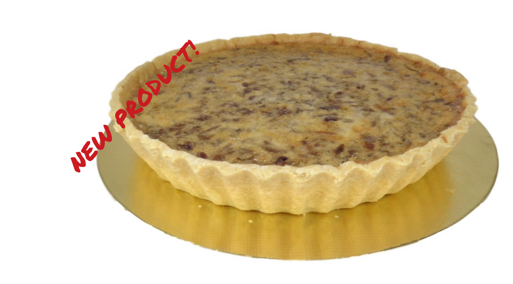Caramelised red onion quiche