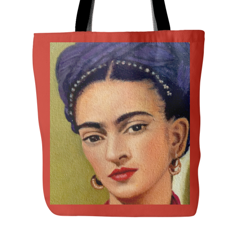 Frida Kahlo Tote Bag in Red