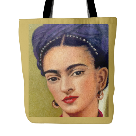 Frida Kahlo Tote Bag in Gold