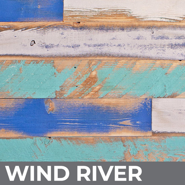 Reclaimed wood in the Wind River finish.