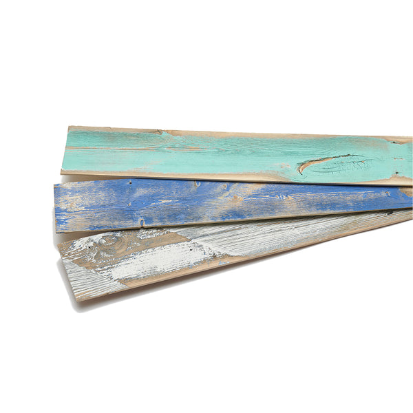 Blue color varieties or Wind River reclaimed wood.