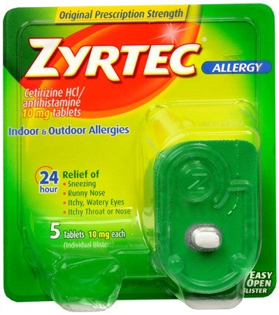 Zyrtec 24 Hour Allergy Tablets - 5 tabs