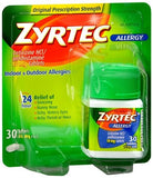 Zyrtec Allergy 10 mg Tablets - 30 tabs