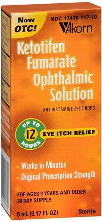 Akorn Ketotifen Fumarate Ophthalmic Solution - 5 ml