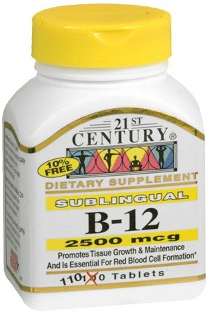 21st Century B-12 2500 mcg Tablets Sublingual - 110 tabs