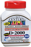 21st Century D3-2000 IU Tablets Super Strength - 110 tabs