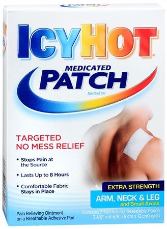 ICY HOT Medicated Patches Extra Strength Arm, Neck & Leg - 5 ea
