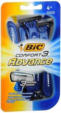 Bic Comfort 3 Advance Shavers - 4 ea