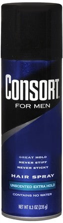 Consort For Men Hair Spray Aerosol Unscented Extra Hold - 8.3 oz