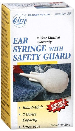 Cara  Ear Syringe with Safety Guard 20 - 1 ea