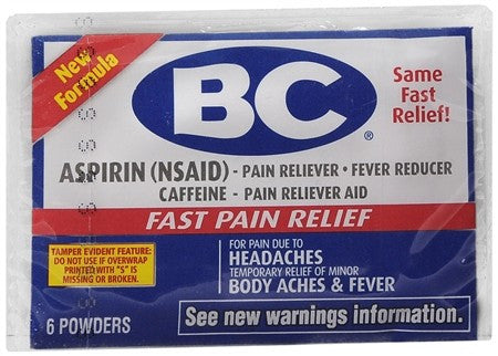 BC Pain Relief Powders - 6 ea