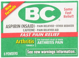 BC Arthritis Formula Pain Relief Powders - 6 ea
