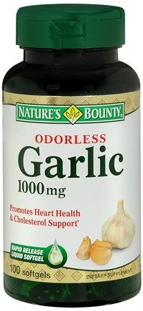 Nature's Bounty  Odorless Garlic 1000 mg Dietary Supplement Softgels - 100 caps