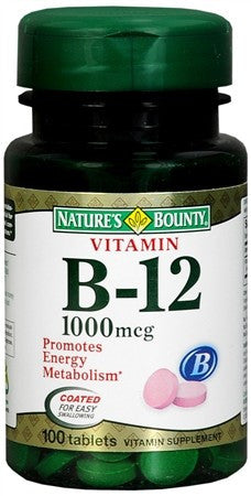 Nature's Bounty Vitamin B-12 1000 mcg Tablets - 100 tabs