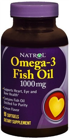 Natrol Omega-3 Fish Oil 1000 mg Softgels - 90 caps