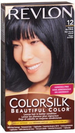 Revlon ColorSilk Hair Color 12 Natural Blue Black - 1 ea
