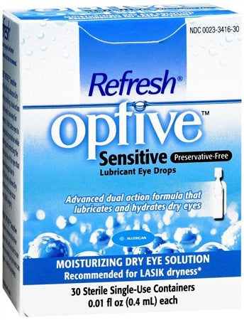 Refresh Optive Lubricant Eye Drops Single Use Containers - 30 ea