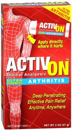 ActivOn Topical Analgesic Ultra Strength Arthritis - 2 oz