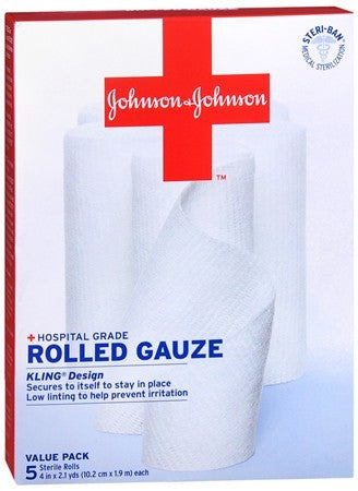 Johnson & Johnson Red Cross Rolled Gauze 30010690 - 10.5 yrds