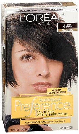 L'Oreal Superior Preference - 4 Dark Brown - 1 ea