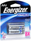 Energizer Ultimate Lithium Batteries AA - 2 ea