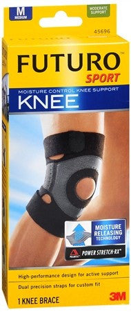 FUTURO Sport Moisture Control Knee Support Medium Black - 1 ea