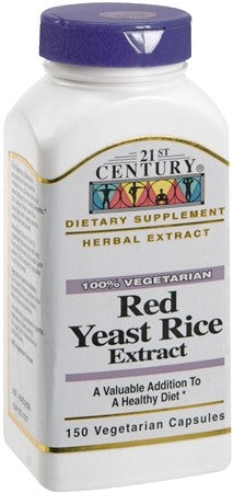 21st Century Red Yeast Rice Extract Capsules - 150 caps