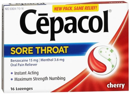 Cepacol Extra Strength Sore Throat Lozenge Cherry - 16 ea