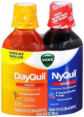 Vicks DayQuil NyQuil Cough Relief Liquid Citrus & Cherry - 24 oz