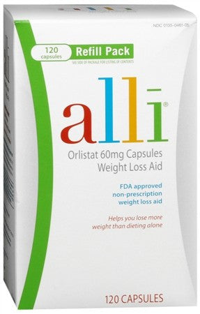 alli Weight Loss Aid Refill Pack Capsules - 120 caps