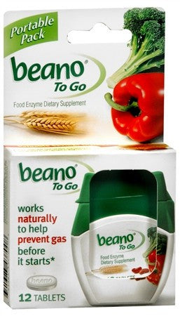 Beano To Go Tablets - 12 tabs