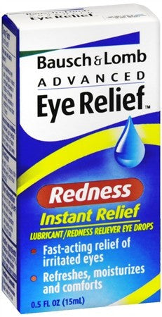 Bausch + Lomb Advanced Eye Relief Redness Instant Relief Eye Drops - 0.5 oz