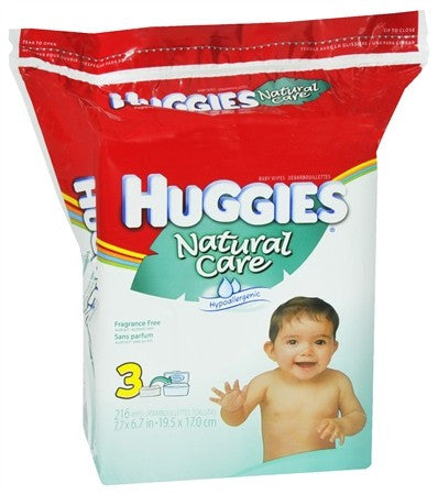 HUGGIES Natural Care Baby Wipes Refill Pack Fragrance Free - 184 ea