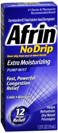 Afrin No Drip Pump Mist Extra Moisturizing - 15 ml