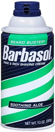 Barbasol Beard Buster Shaving Cream Soothing Aloe - 10 oz