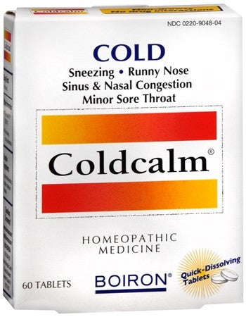Boiron Coldcalm Quick-Dissolving Tablets - 60 tabs
