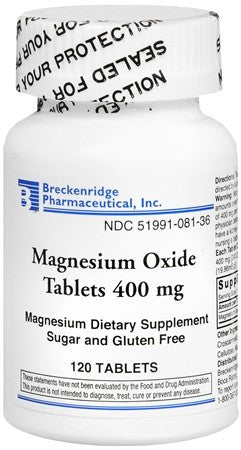 Breckenridge Magnesium Oxide 400 mg Tablets - 120 tabs
