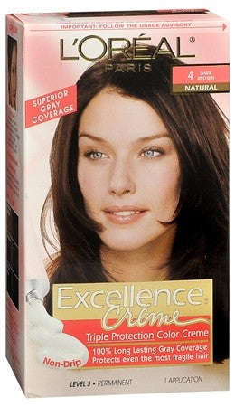 L'Oreal Excellence Creme - 4 Dark Brown (Natural) - 1 ea