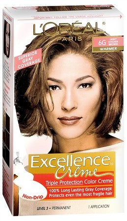 L'Oreal Excellence Triple Protection Permanent Hair Color Creme Light Golden Brown (Warmer) - 1 ea
