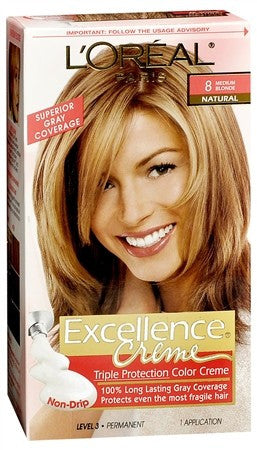 L'Oreal Excellence Creme - 8 Medium Blonde (Natural) - 1 ea
