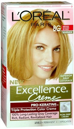 L'Oreal Excellence Creme - 8G Medium Golden Blonde (Warmer) - 1 ea