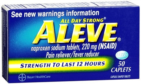 Aleve Pain Reliever Fever Reducer Caplets - 50 caps