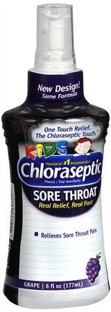 Chloraseptic Kids Sore Throat Spray Grape - 6 oz