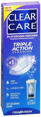 Clear Care Cleaning & Disinfecting Solution - 12 oz