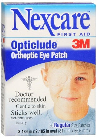 3M Nexcare Opticlude Orthoptic Eye Patches Regular Size - 20 ea